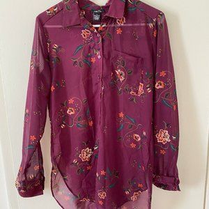 Rue21 Purple Floral Blouse